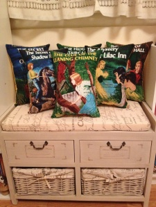 Nancy Drew pillows